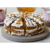 Торт Невские берега медовый со сливками (порц) 750г