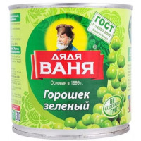 Горошек Дядя Ваня зеленый консервированный 400г