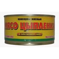 Мясо цыпленка МКК Балтийский в с/с 325г ж/б