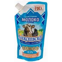 Молоко цельное Алексеевское сгущенное 270г сашет