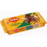 Вафли Яшкинские вафли в шоколадной глазури с орешками 200г