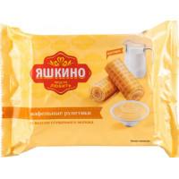 Рулетики Яшкино вафельные со сгущенным молоком 160г