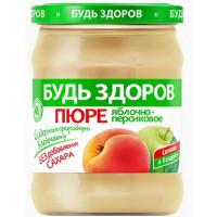 Пюре АВС Яблочно-персиковое без сахара 450г