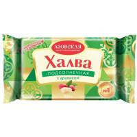 Халва Азовская КФ подсолнечная с арахисом 250г
