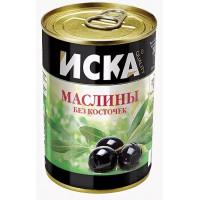 Маслины Иска черные без косточки 300мл