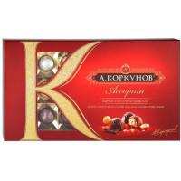Конфеты А. Коркунов ассорти из темного и молочного шоколада 192г