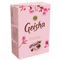 Конфеты Фазер Гейша из молочного шоколада с начинкой из тертого ореха 150г