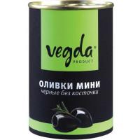 Оливки Вегда черные мини без косточки 300г