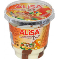 Паста Алиса шоколадно-молочная дуо п/уп 350г