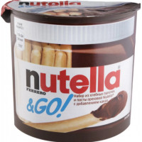Паста Нутелла ореховая с добавлением какао 52г + хлебные палочки