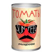 Томаты Санфил очищенные в собственном соку ж/б 400г