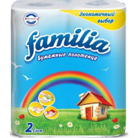 Полотенца бумажные Фэмили Радуга 2-х слойные 2 рулона