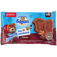 Сэндвич Медвежонок Барни Фан с какао и кусочками темного шоколада 180г