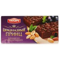 Торт Пекарь Шоколадный принц вафельный с арахисом и изюмом 260г