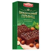 Торт Пекарь Шоколадный принц вафельный с фундуком 260г