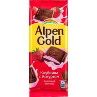 Шоколад Альпен Гольд клубника с йогуртом 90г