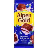 Шоколад Альпен Гольд черника с йогуртом 90г