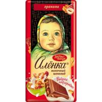 Шоколад Красный Октябрь Аленка Бодрая подзарядка с гранолой 90г