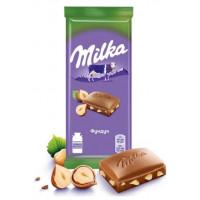 Шоколад Милка молочный с фундуком 90г