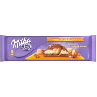Шоколад Милка цельный фундук и карамель 300г