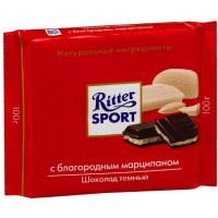 Шоколад Риттер Спорт горький с благородным марципаном 100г
