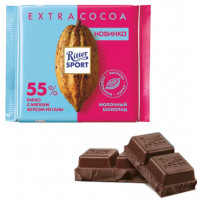 Шоколад Риттер Спорт молочный 55% какао 100г