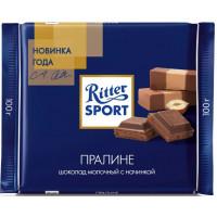 Шоколад Риттер Спорт молочный с пралине 100г