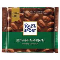 Шоколад Риттер Спорт молочный с цельным миндалем 100г