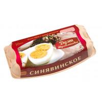 Яйцо Синявинская п/ф Дуэт отборное двухжелтковое 10штук