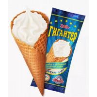 Мороженое Главхолод Гигантер пломбир ванильный с шоколадной глазурью 120г