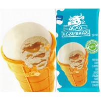 Мороженое Дело в сливках пломбир ванильный с вареной сгущенкой 80г ваф/ст