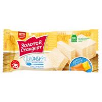 Мороженое Инмарко Золотой стандарт Классический Пломбир со вкусом сливок 180г брикет