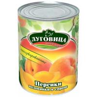 Персики Луговица половинки в сиропе 425мл ж/б