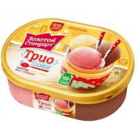 Мороженое Инмарко Золотой стандарт Трио 475г ванна