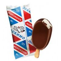 Мороженое Карелии пломбир ванильный эскимо в шоколадной глазури 80г