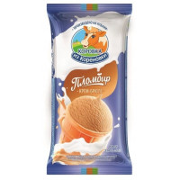 Мороженое Коровка из Кореновки пломбир крем-брюле в ваф, стаканчике 100г