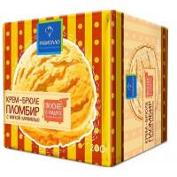 Мороженое Равиолло пломбир крем-брюле с мягкой карамелью 200г