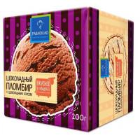 Мороженое Равиолло пломбир шоколадный с шоколадным соусом 200г