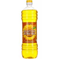 Масло Золотая семечка подсолнечное нерафинированное ароматное 1л