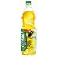 Масло Слобода подсолнечное рафинированное+оливковое масло 1л