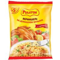 Вермишель б/п Роллтон с куриным вкусом 60г