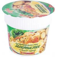 Пюре картофельное Золотистое со вкусом курицы с гренками 40г