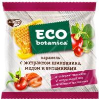 Карамель Эко ботаника с экстрактом шиповника, медом и витаминами 150г