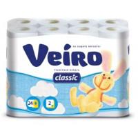 Бумага туалетная Виеро Классик двухслойная 24рулона