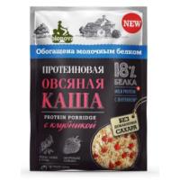 Каша Бионова протеиновая овсяная с клубникой 40г