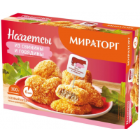 Наггетсы Мираторг из свинины и говядины 300г с/м