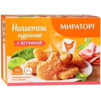 Наггетсы Мираторг куриные с ветчиной 300г