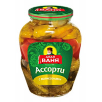 Ассорти Дядя Ваня овощное огурцы томаты патиссоны 1800г