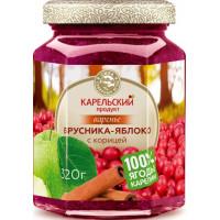 Варенье Карельский продукт из брусники и яблока с корицей 320г ст/б