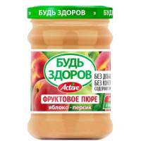 Пюре АВС Яблочно-персиковое без сахара 240г